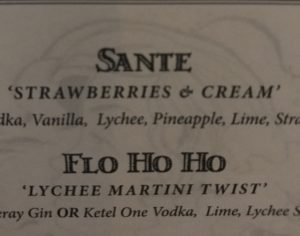 "The ""Sante"" cocktail menu description. Not low carb, but let's enjoy sugar/alcohol 'in their place' :)"