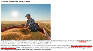 grains, oilseeds, pulses